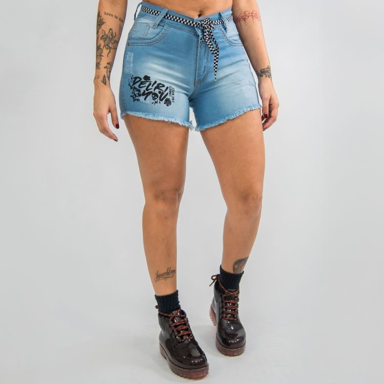 Short DLY Jeans Claro